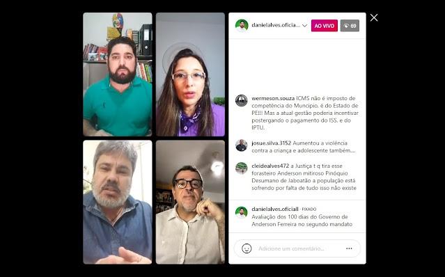 Oposição de Jaboatão dos Guararapes avalia os 100 dias do segundo mandato do prefeito Anderson Ferreira