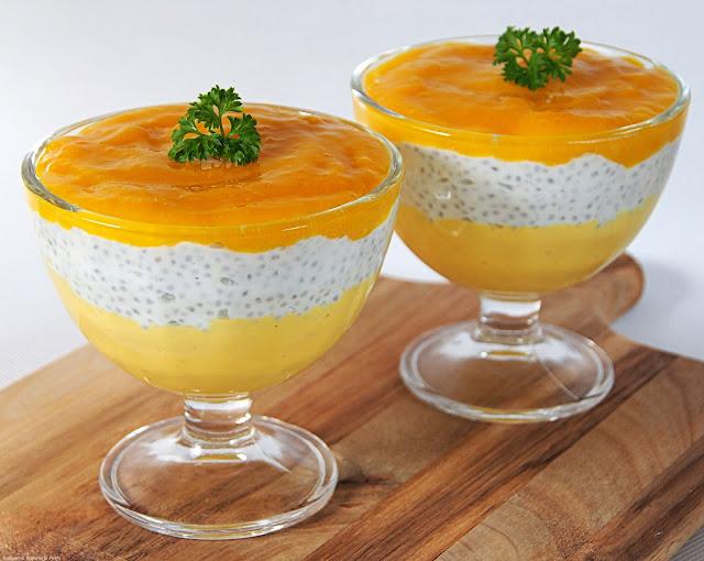 deser z mango, chia i mascarpone