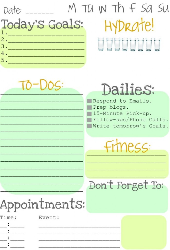 Making to do lists fun clean and scentsible for Diy to do list template
