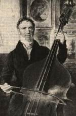 Dragonetti with his three- stringed da Salò double bass