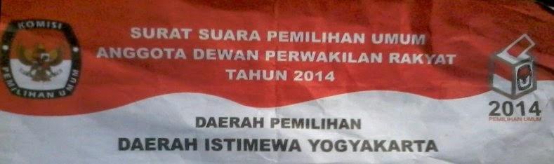 Kop Surat Suara Pemilu 2014