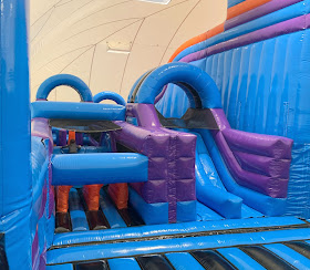 Inflata Nation inflatable activity course North Shields