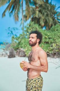 M salah beach enjoying pic