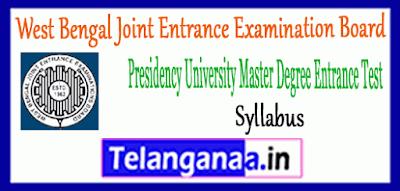 WBJEEB PUMDET West Bengal Joint Entrance Examination Board Syllabus