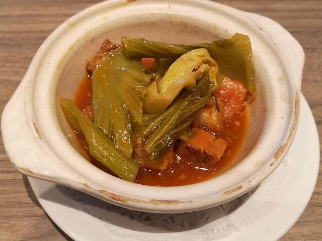 传统十月有机芥菜烧肉