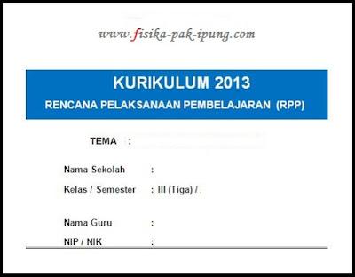 RPP K13 Kelas 2 Revisi 2018 Semester 1 dan 2