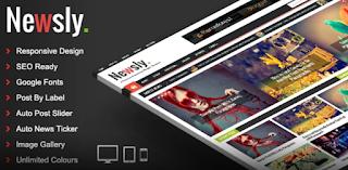 Newsly v1.3 – Responsive Multipurpose Blogger Template Free Download