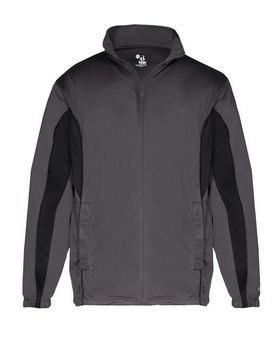 Badger 7703 Brushed Tricot Drive Jacket - Graphite/ Black - XS