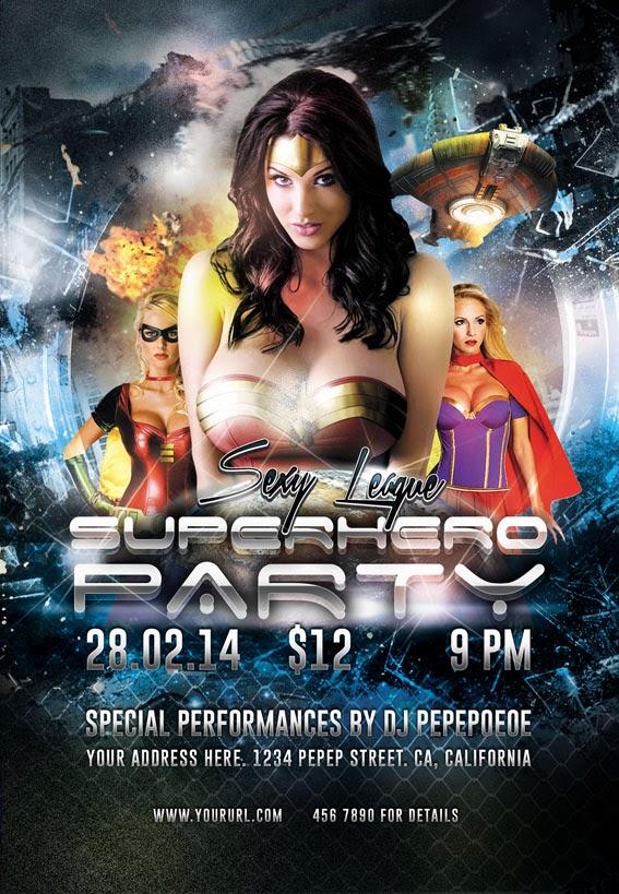 Superhero Costume Party Flyer Design
