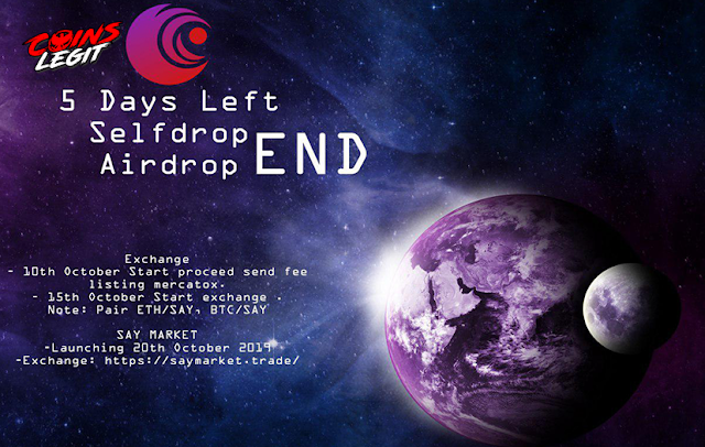 Airdrop Say Token - Free 5000 SAY