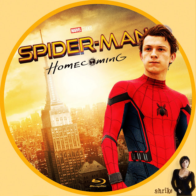 Spider-Man: Homecoming Bluray Label