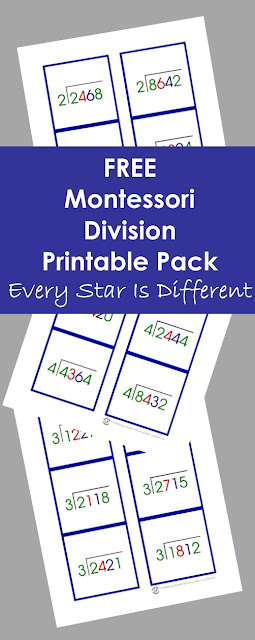 FREE Montessori Division Printable Pack