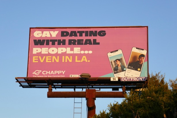 Chappy Gay dating real people LA billboard