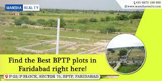 BPTP Plots in Faridabad