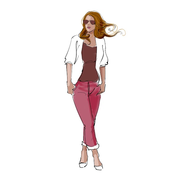 fashion model mascot design concept sketch illustration