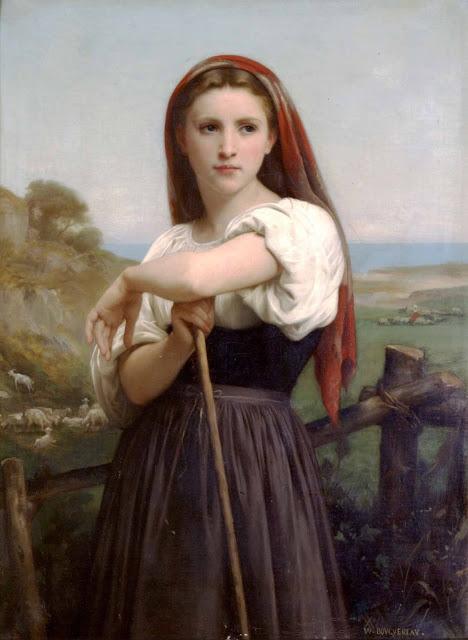 Адольф Вильям Бугро - Юная пастушка (1868)