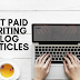 Sites where I get paid writing blog articles