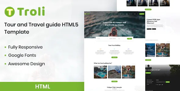 Best Tour and Travel Guide Website Template