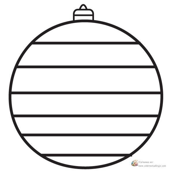 COLOREA TUS DIBUJOS: Bola de navidad de lineas para