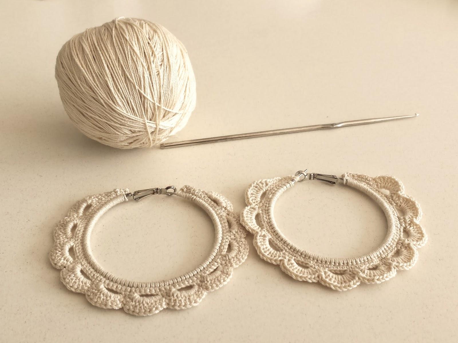 Upcycle a Pair of Old Hoop Earrings into Beautiful Crochet Earrings ...