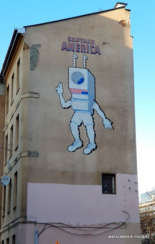 Warszawa Warsaw warszawskie murale streetart street  Captain America