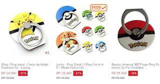 Harga cincin untuk Samsung Galaxy model Pokemon