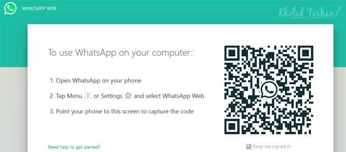 Scan Barcode WhatsApp Web di Handphone kamu