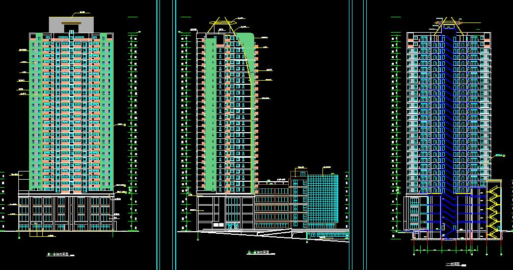 Desain Elevasi Apartemen Gambar Dwg Apartemen Tampak Depan Blogteknikgambarbangunan