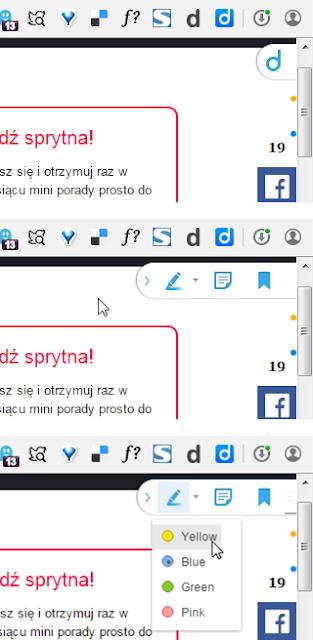 Diigo - widget na stronie