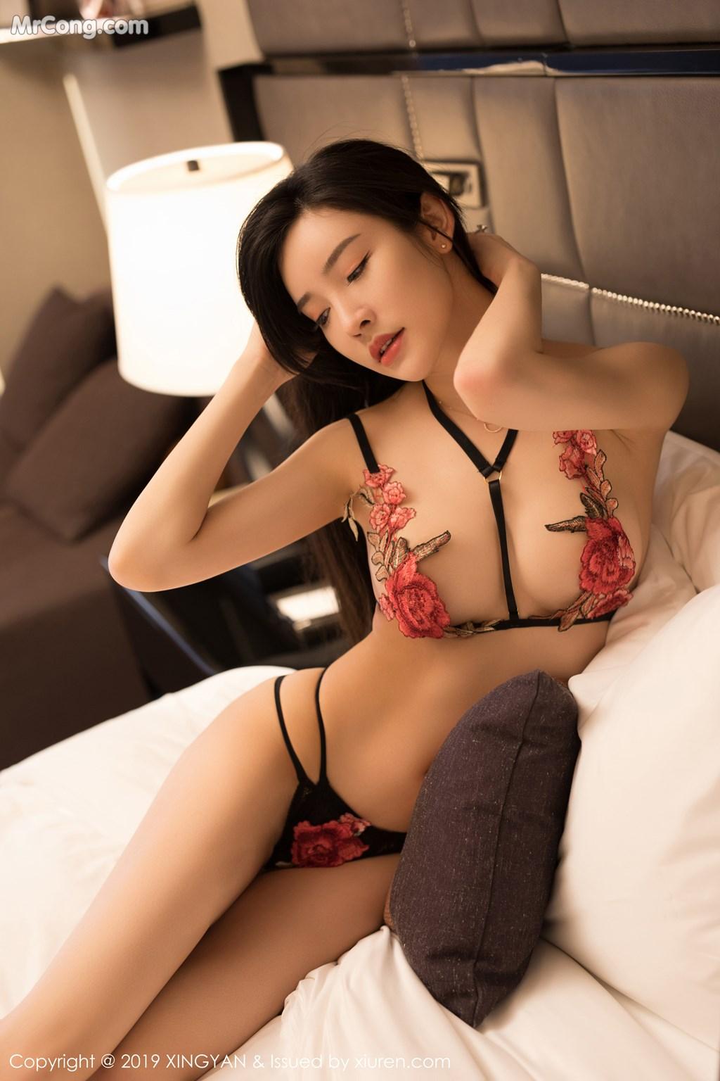 Image XingYan-Vol.121-He-Chen-Xi-MrCong.com-033 in post XingYan Vol.121: He Chen Xi (何晨曦) (49 ảnh)