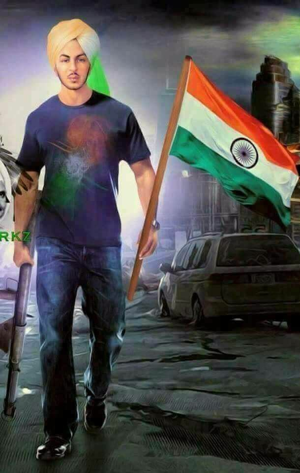 Happy Independence Day bhagat singh image