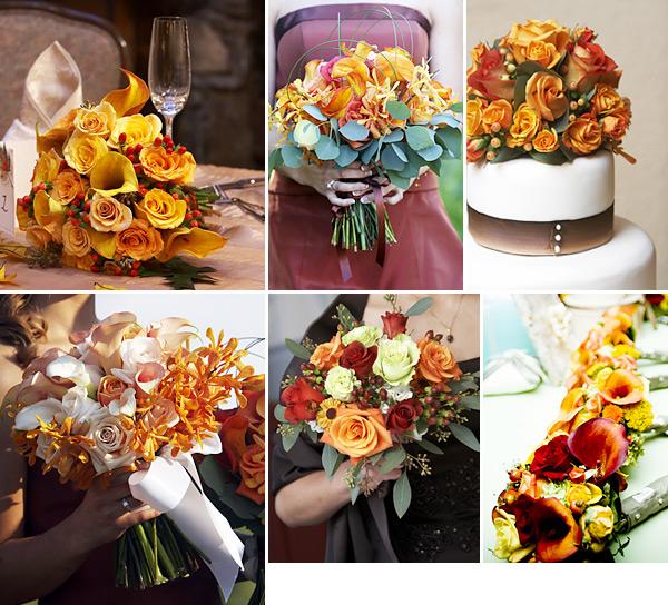 25 Autumn Inspired Wedding Flowers: Fashion And Stylish Dresses Blog: Fall Themed Wedding Ideas