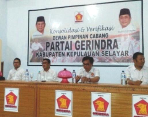 Ketua DPD Partai Gerindra Sulsel, Konsolidasi Ke Selayar