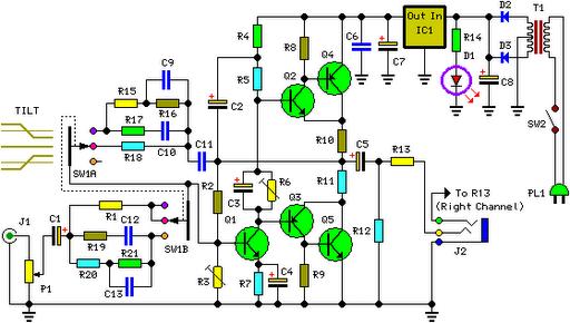 Class-A Headphone Amplifier Circuit - Electronic Circuit