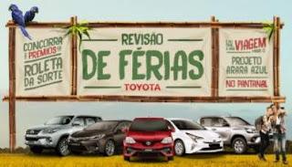 Promoção Toyota 2018 Revisão de Férias Prêmios e Viagem Pantanal