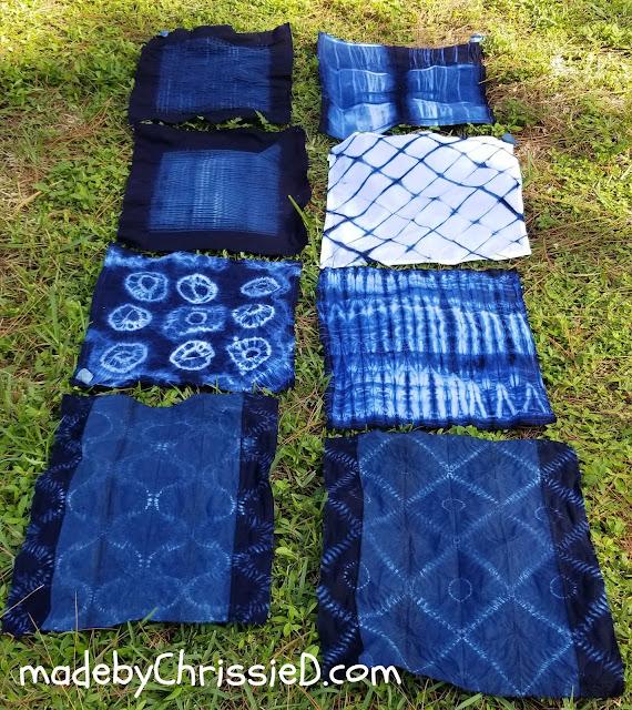 Shibori Indigo Dyeing At Morikami by www.madebyChrissieD.com