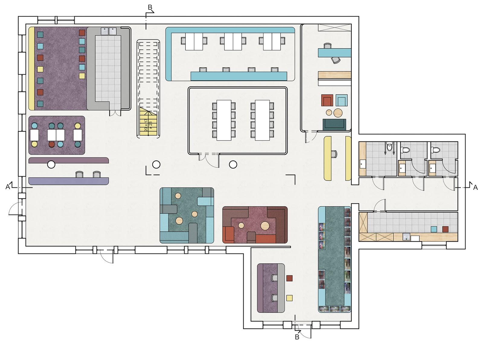 projekt architektury i aranżacji wnętrz siedziby marki inglot