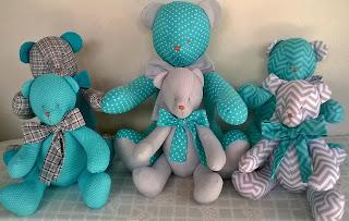 ursos para nichos, ursos para decoração quarto de bebê