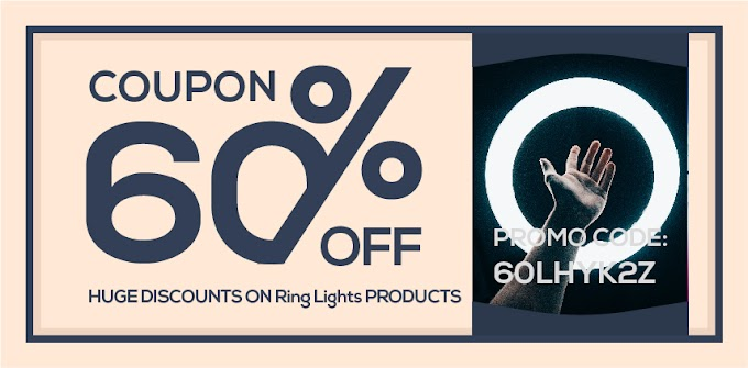 Save 60% by getting Ring Lights