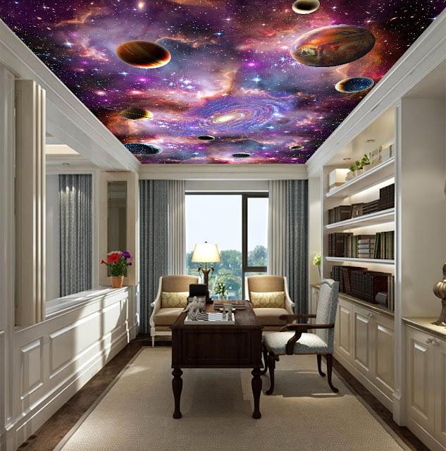 3d spacious false ceiling design images