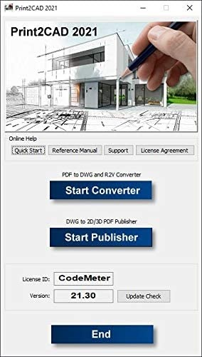تحميل برنامج Print2CAD 2021 لتحويل ملفات PDF