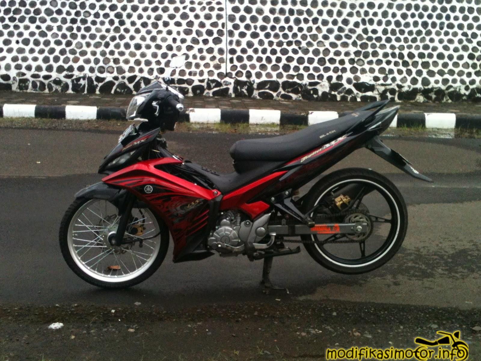90 modif motor jupiter mx warna hitam terbaik rendang