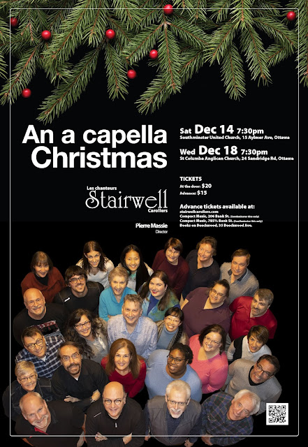 Stairwell Carollers 2019 Christmas concert poster