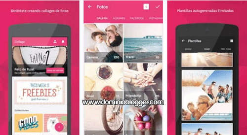 Aplicacion Fuzel Collage gratis para Android