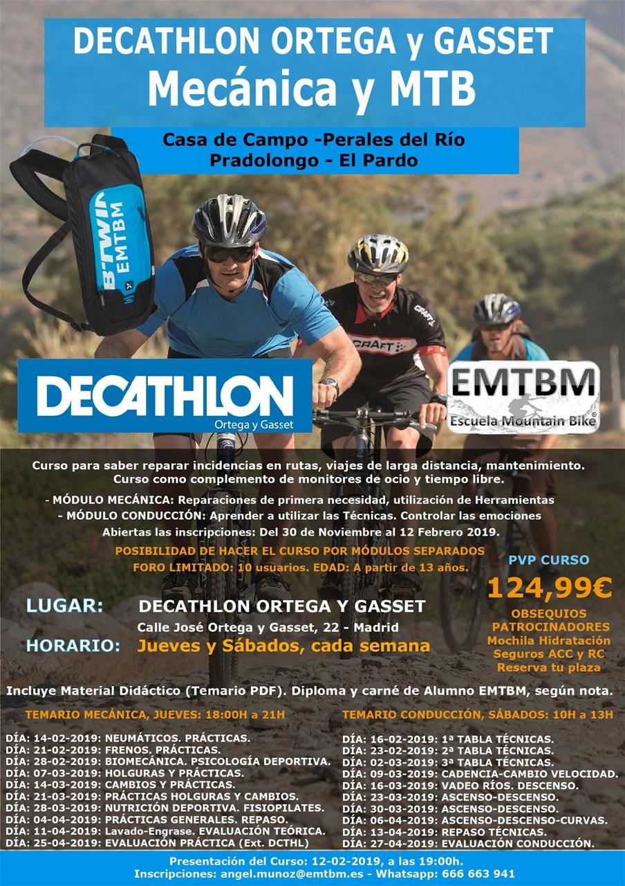 69ef575c8 Curso de mecánica y conducción para Mountain Bike en Decathlon Ortega y  Gasset