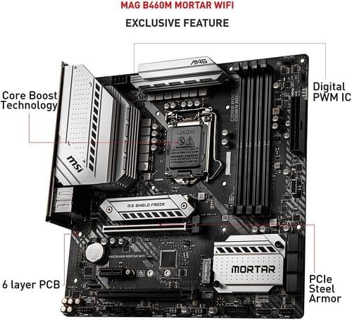 Review MSI MAG B460M Mortar WiFi Gaming Motherboard