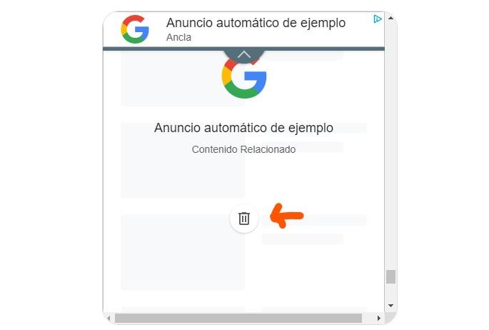 emplazamiento anuncio automático