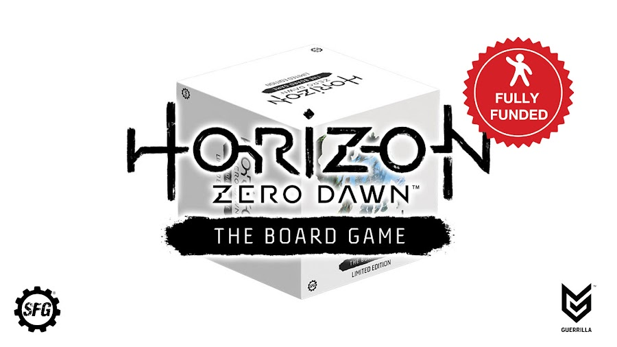 horizon zero dawn board game tabletop funded