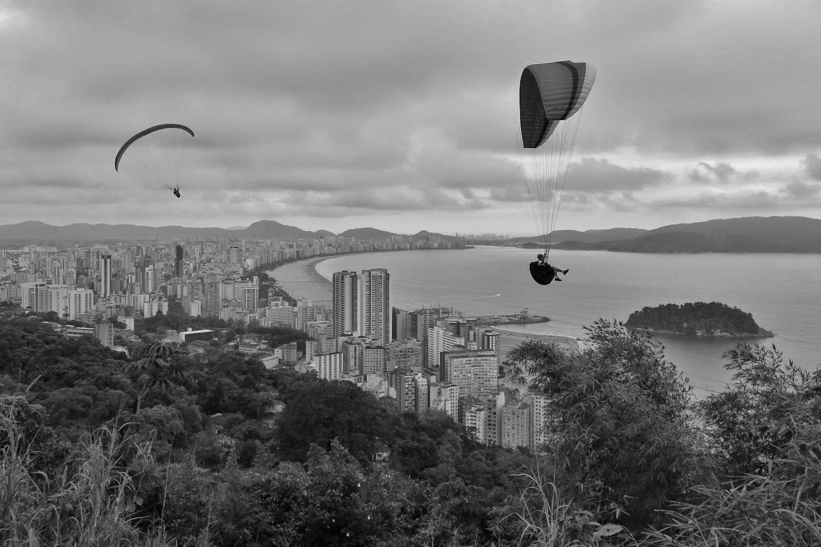 Vista do Morro Voturuá em São Vicente.