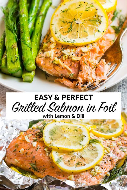 Easy and Perfect Grilled Salmon in Foil with Lemon and Dill